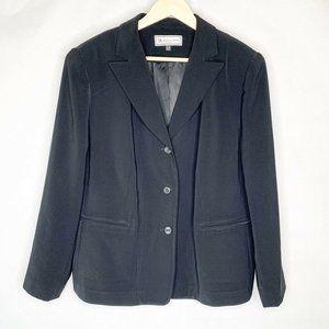 Travis Ayers Suit Jacket Blazer Black Lined 16W